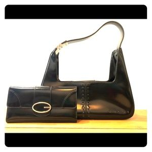 Guess Paten Leather Purse and Wallet